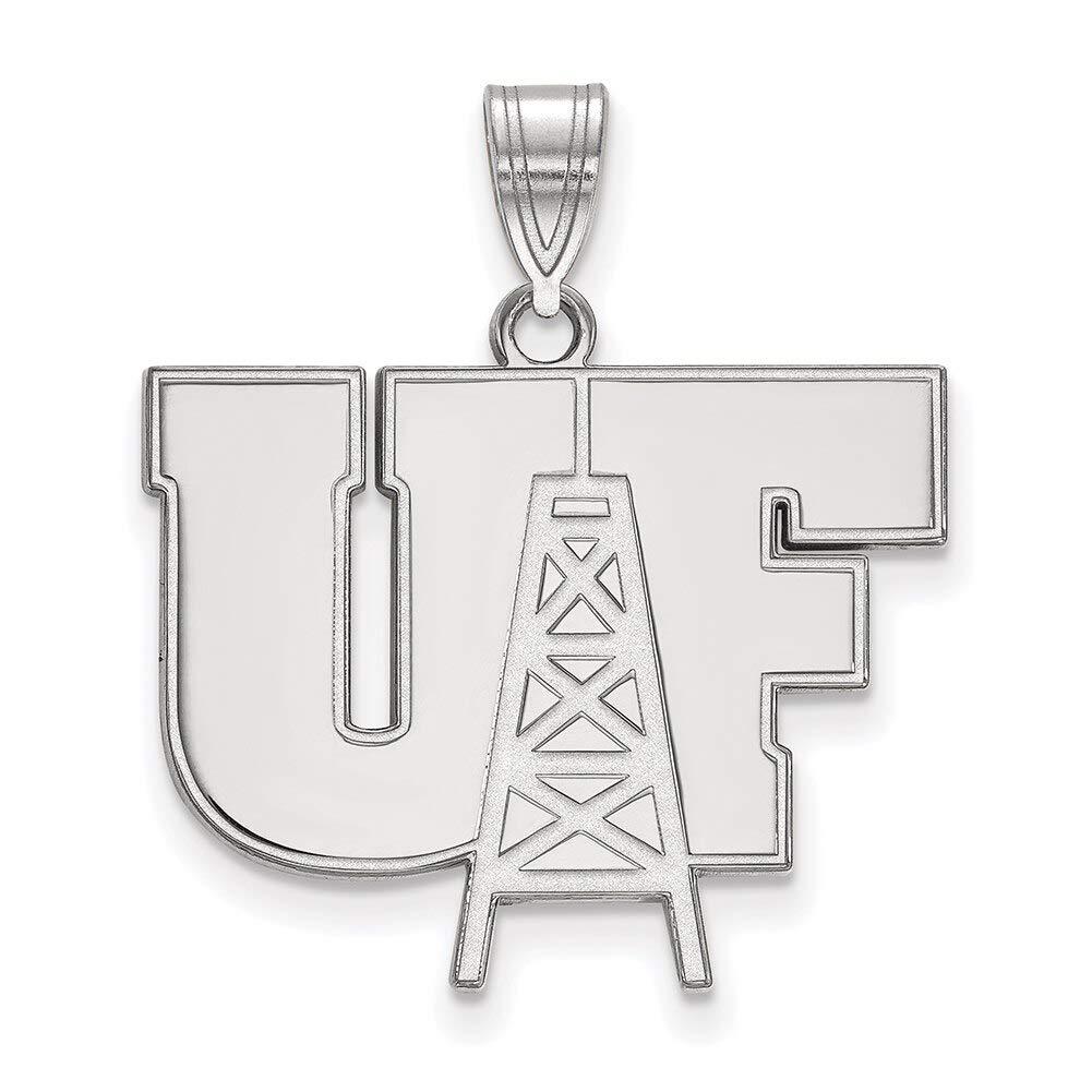Lex /& Lu LogoArt Sterling Silver University of Findlay Large Pendant