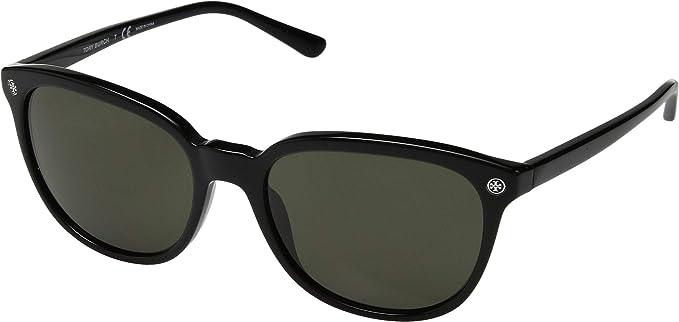 35519e01f695 Amazon.com: Tory Burch Unisex 55mm 0TY7131 Black/Smoke Solid One ...
