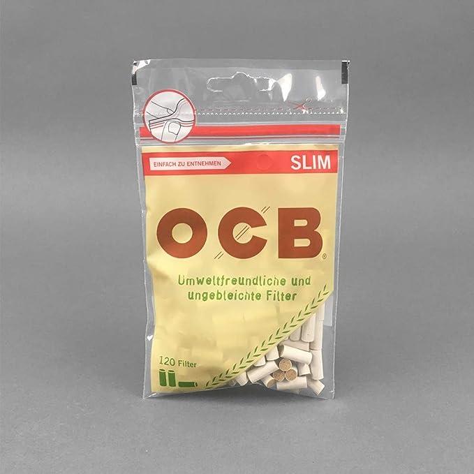 120x Filtros 100% BIO / Ecológicos para Tabaco de liar OCB Slim (6mm): Amazon.es: Jardín