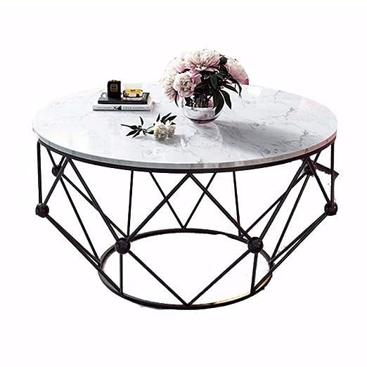YNN Table Mesa de Centro de mármol Mesa Redonda Sala de Estar Sofá ...