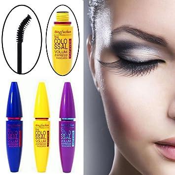 LtrottedJ Cosmetic Black Mascara Makeup Eyelash ,Waterproof Extension Curling Eye Lashes (Purple)