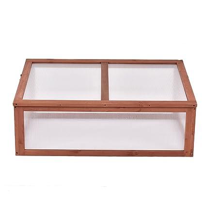 Amazon.com : Garden Portable Wooden Green House Cold Frame Raised ...