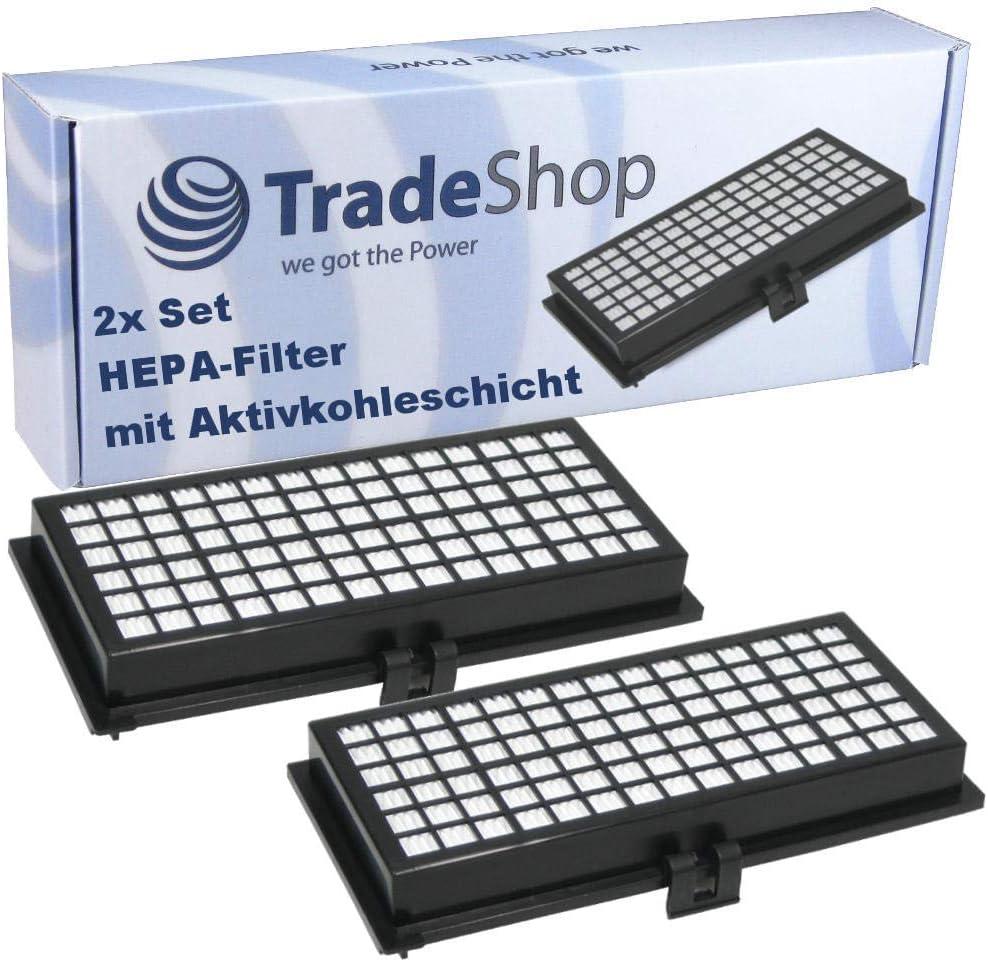 2x HEPA-Filtre Pollen Filtre charbon couche remplace MIELE 7226160 9616080 9616270