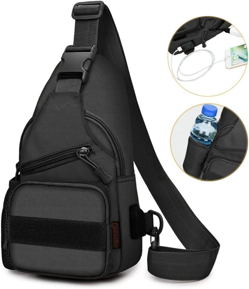 Sling Bag Shoulder Chest Cross Body Backpack Men Women Lightweight Hiking Travel Backpack Daypack