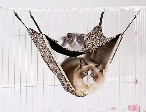 Muodu - Hamaca para Gatos con Cama Doble - Hamaca para ...