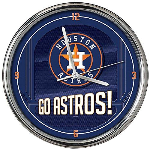 The Memory Company MLB Houston Astros Go Team! Chrome Clock, One Size, Multicolor