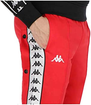 Kappa Pantalón Astoria Snaps Slim Rojo Hombre: Amazon.es: Ropa y ...