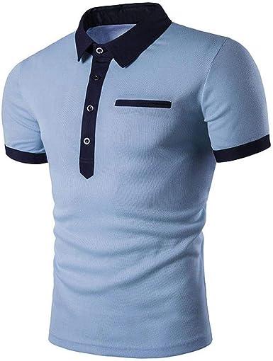 Camiseta Camisa Premium De Verano para Slim Fit Camisa Hombre Manga Corta Camisa con Cuello En V Camisa Deportiva Deportiva Camisa De Corte Tops Básica Tops Camisa De Corte para Hombre: Amazon.es: