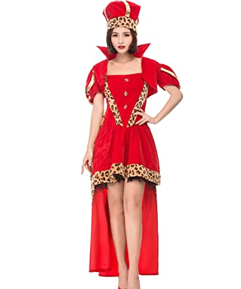 hzy womens sexy christmas xmas queen costumes santa dress with hat adult