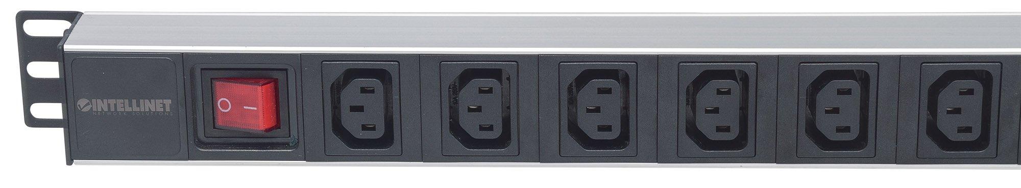Intellinet 19'' 1U Rackmount Anti-Shedding 8-Output C13 Power Distribution Unit (PDU) by Intellinet (Image #3)