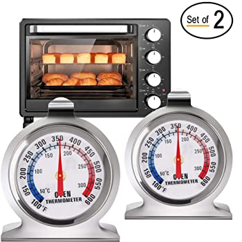 Instant Read Large Dial Stainless Steel Oven Thermometer