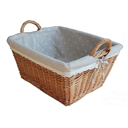 Amazon Com Storage Basket Wicker Rattan Toy Storage Box Multi