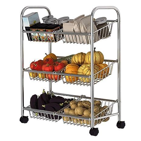 Amazon.com: Estantería de cocina para verduras, 3 estantes ...
