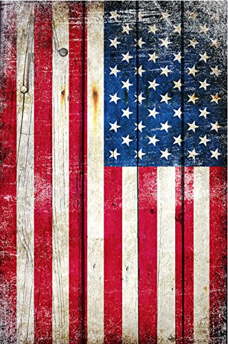 Patriotic Wall Art - Patriotic Home Decor - Distressed American Flag - Vertical Photographic Print 30 X 45 Unframed (45 Inch Home Decor Print)
