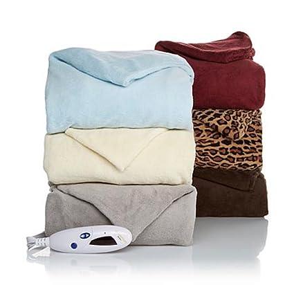 Amazon.com: Soft & Cozy Manta, Eléctrico climatizada ~ Vino ...