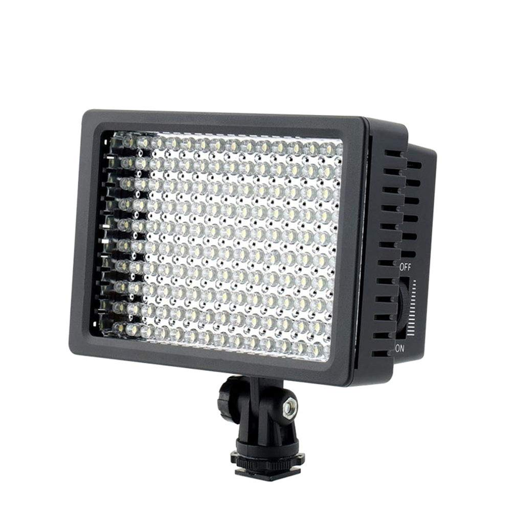160LED Video Light 6000K Dimmable Fill Light Camera Photo Photographic Lighting for DSLR Camera Wedding Interview