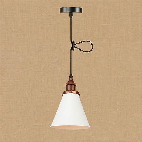 E27 Vintage lámpara colgante ajustable color de la luz de la forma de cono de techo