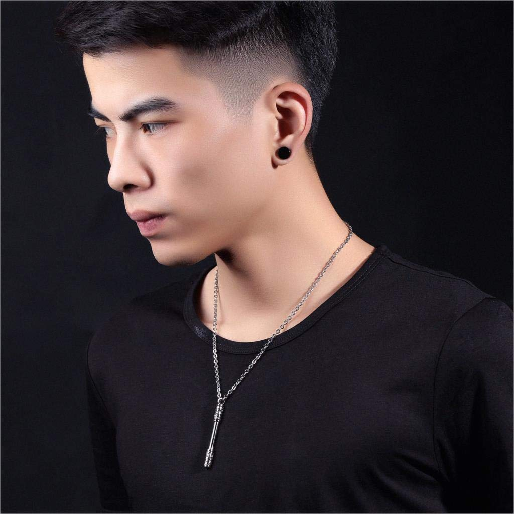 Necklace for Men Punk Rock Mokey King Bar Pendant Necklace Gold color Chinese Element Jewelry Gift For Men /& Women Stainless Steel Chain
