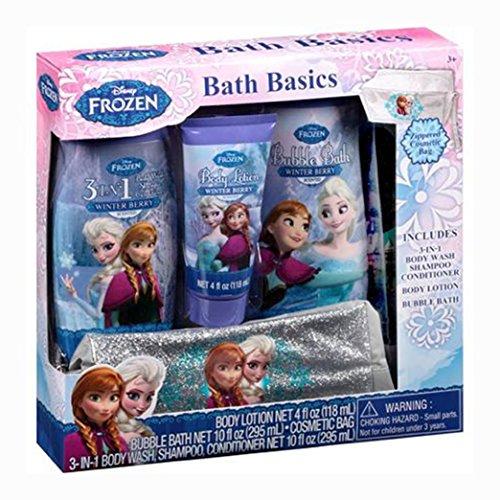 Disney Frozen Bath Basics 4-piece Set and Set of 100 Nail Art Decals