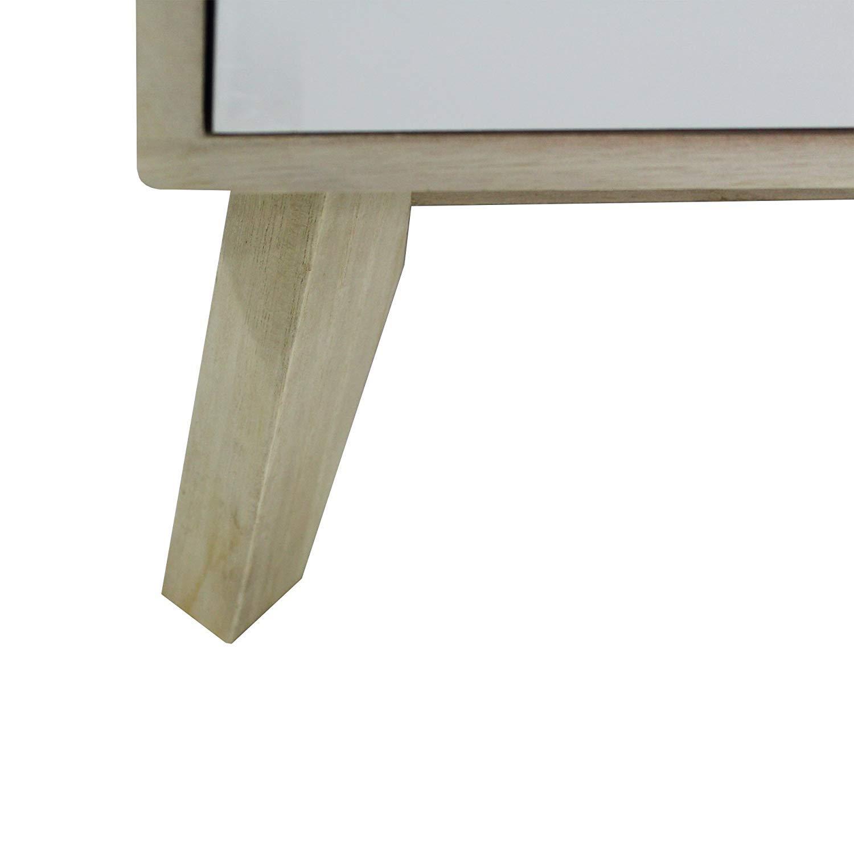 Legno Chiaro Bianco - Art HxLxP Rebecca Mobili Como 6 cassetti RE6191 Misure 82 x 57 x 30 cm cassettiera Moderna per Soggiorno Camera Ragazzi
