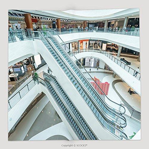 Custom Interior Of Modern Shopping Mall 343794926 Soft Fleece Throw - Shopping Omaha Mall