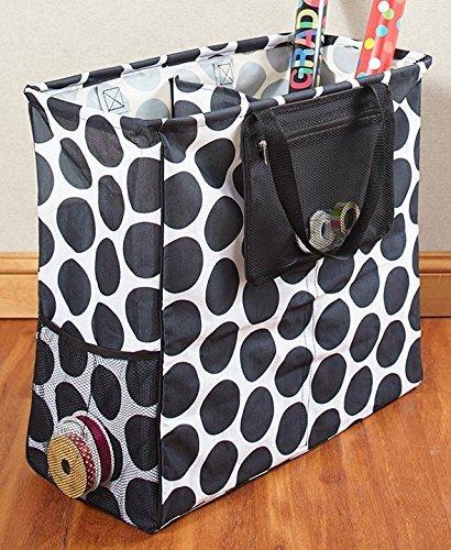 The Lakeside Collection Gift Wrap Organizer Totes - Polka Dots