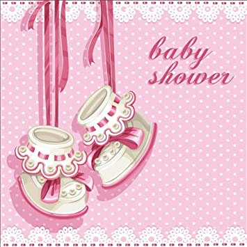 Amazon Com Laeacco 8x8ft Cartoon Girl Baby Shower Backdrop Vinyl Cute Hanging Girl Boots Pink Ribbons Floral Lace Pink Polka Dots Photo Background Girl Baby Shower Party Banner Child Baby Girl Shoot