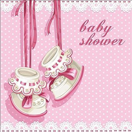 Amazon Com Laeacco 5x5ft Cartoon Girl Baby Shower Backdrop Vinyl