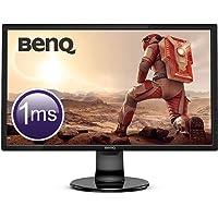 "BenQ GL2460BH – Monitor Gaming de 24"" Full HD (1920x1080, LED, 16:9, HDMI, DVI, VGA, 1ms, 75Hz, altavoces, Eye-care, Sensor Brillo Inteligente, Flicker-free, Low Blue Light) color negro"
