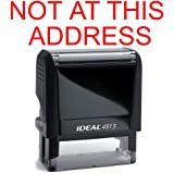 Not At This Address Rubber Stamp for Office Use Self-inking