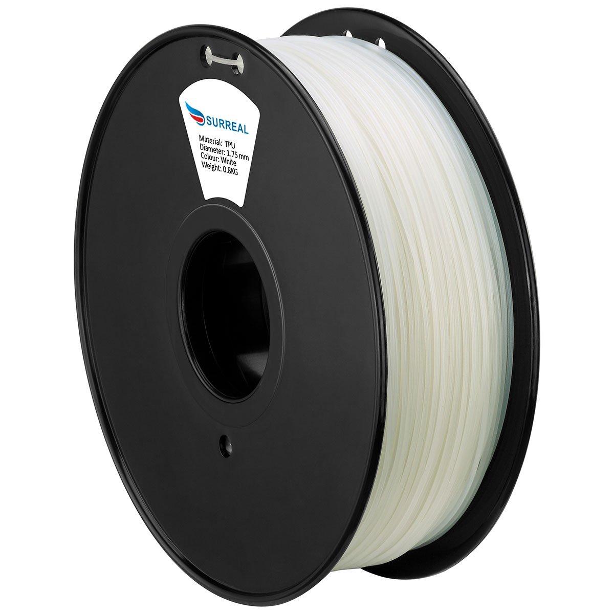 800g Surreal Flexible TPU 3D Printer Filament 1.75mm Colour : Black