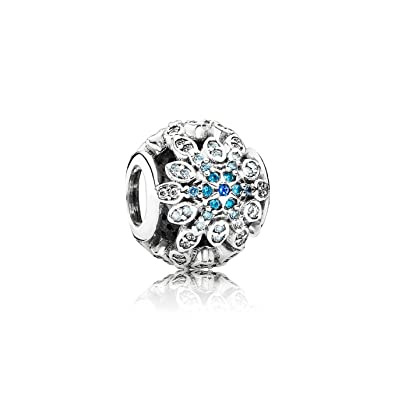 2902dce44 Amazon.com: Pandora 791760nblmx Crystalized Snowflakes Blue Crystals & CZ  Charm: Jewelry