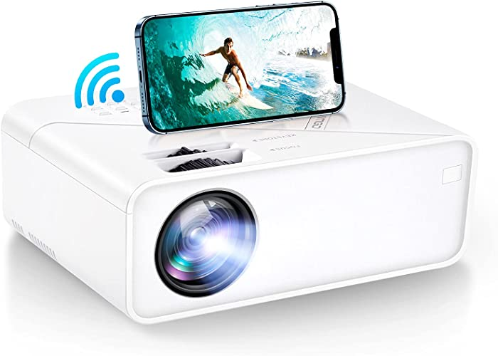 VIMGO Mini WiFi Projector, 8000Lux Portable Projector Full HD 1080P Supported for Outdoor Movies, 200