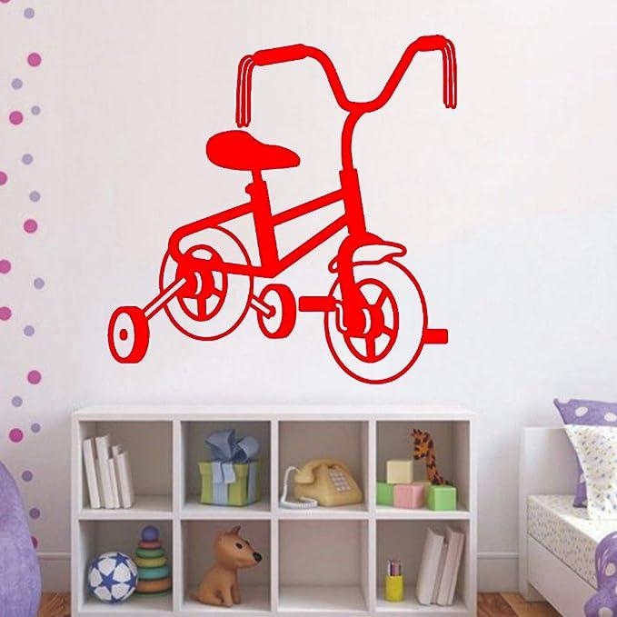 zhuziji Pared Vinilo Arte calcomanía Pegatina niños Bicicleta Sala ...