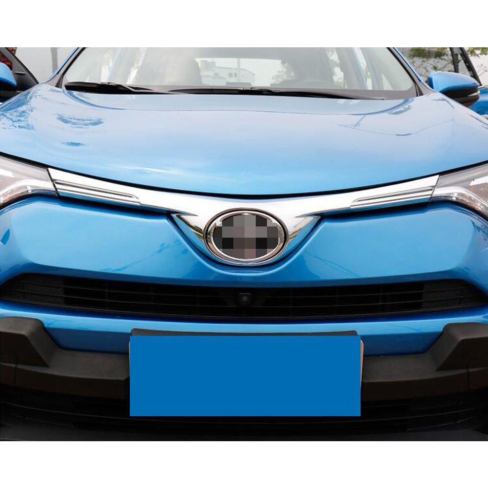 Rqing For Toyota RAV4 2016 2017 2018 Front Grill Grille Guard Cover Trim Chrome Guangzhou Ruiqing