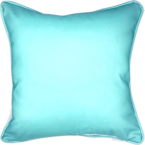 Sea By Day A Fan of Blue Coral Indoor Outdoor Pillow