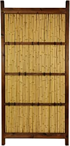 Oriental Furniture 6 ft. x 3 ft. Japanese Bamboo Kumo Fence(B)