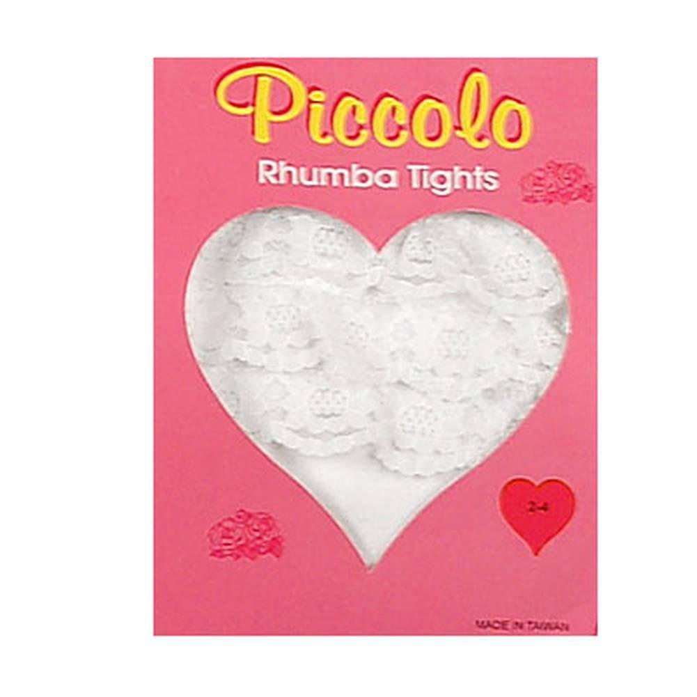 Newborn Infant Baby Toddler Girls WHITE Ruffle RHUMBA Tights PICCOLO Girl 0-4T