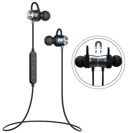 Cuffie Bluetooth Sport Mpow in Ear cuffie Bluetooth 4.1 senza fili stereo  auricolari Sport Jogging auricolari wireless auricolari Sport magnetische  ... 535d8847f885