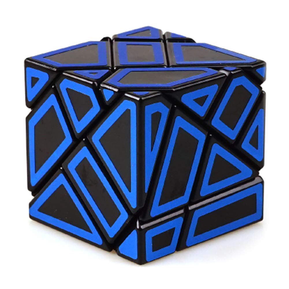 JIAAE 3X3 Allotype Rubik's Cube High Difficulty Intelligence Hollow Rubik Children Puzzle Toy,Blue