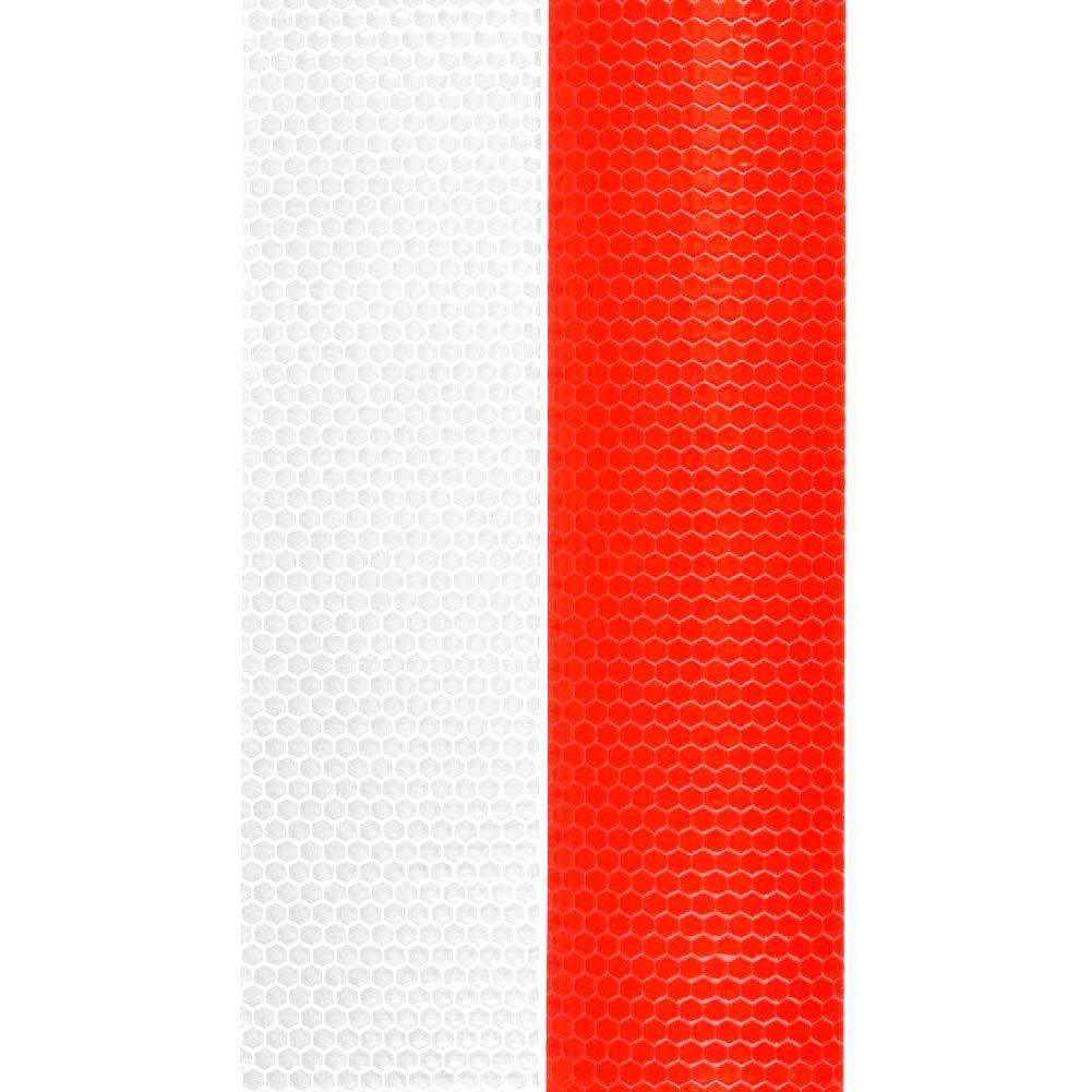 Rouge et Blanc Lot de 2 Rouleaux de Ruban r/éfl/échissant Haute intensit/é imperm/éable et r/éfl/échissant 3 m x 50 mm