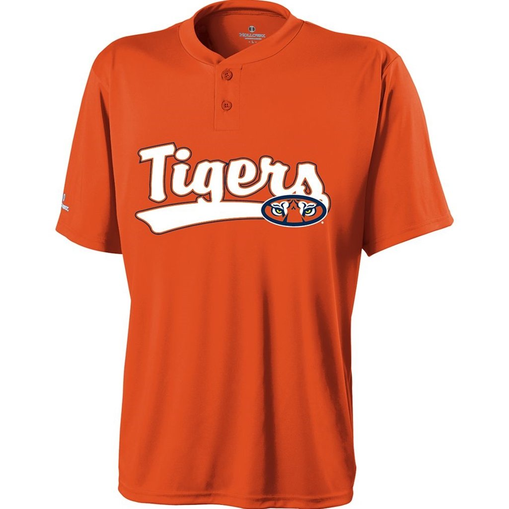 Holloway Auburn Tigers Ball Park Jersey (Small, Burnt Orange/White)