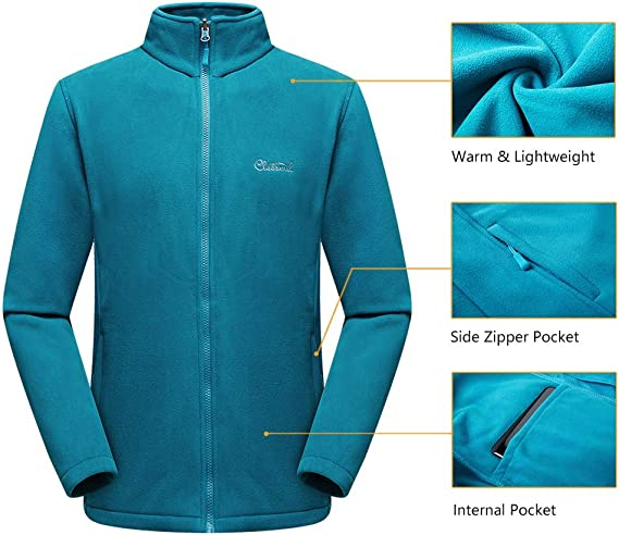 Cleesmil Giacca da Sci da Uomo 3 in 1 Intercambiabile Cappotto Impermeabile e Antivento con Giacca di Pile e Cappuccio Rimovibile Giacca da Montagna Invernale Esterno