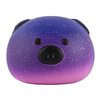 "Anboor 3.3"" Squishies Pig Bread Jumbo Slow Rising Kawaii Scented Soft Galaxy Bun Animal Squishies Toys Color Random"