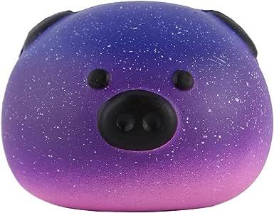"Anboor 3.3"" Squishies Pig Bread Jumbo Slow Rising Kawaii Scented Soft Galaxy Bun Animal Squishies Toys Color Random"