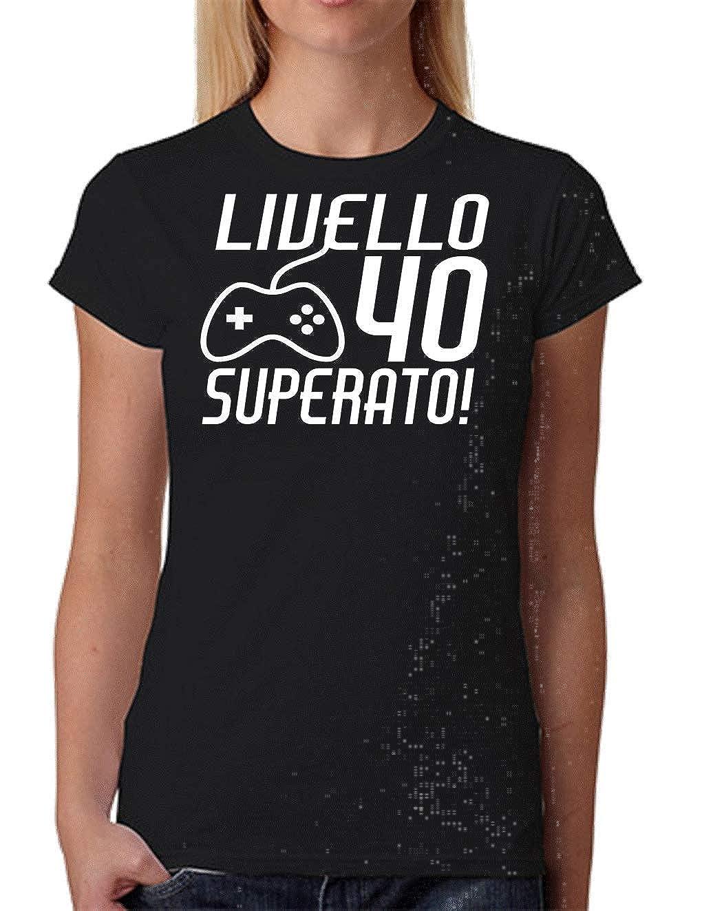 Wixsoo T-Shirt Maglietta 40 Anni Compleanno Donna