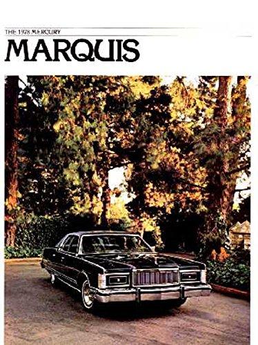 1978 Mercury Marquis Sales Brochure Literature Advertisement Options Specs