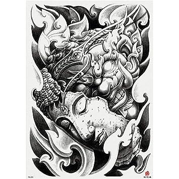 tzxdbh 3Pcs-Full Back Pegatinas de Tatuaje Grandes Zhang Erlang ...