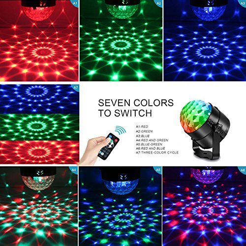 AOMEES Disco Light Party Lights Disco Ball LED Strobe Lights Sound Activated Dance Light Stage DJ Lighting for Home Kids Birthday Parties Festival Holiday Decorations Karaoke Bar Club (with USB) by AOMEES (Image #1)