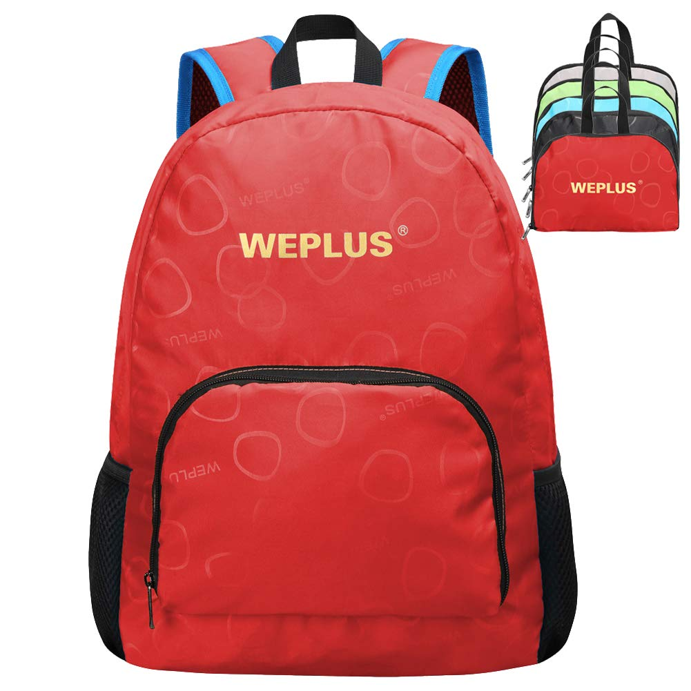 WEPLUS Small Lightweight Packable Daypack Hiking Travel Foldable Backpack for Women Tee Girls Boys Kids
